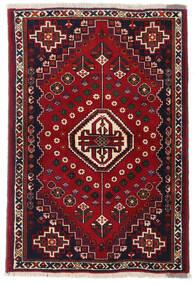 Ghashghaï Tapis 100X147 D'orient Fait Main Noir/Rouge/Rouge Foncé (Laine, Perse/Iran)