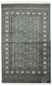 Pakistan Boukhara 3Ply Tapis 92X151 D'orient Fait Main Gris Foncé/Vert Foncé (Laine, Pakistan)