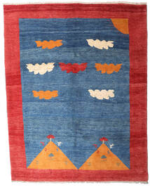 Gabbeh Rustic Tapis 208X265 Moderne Fait Main Bleu/Rouge (Laine, Perse/Iran)