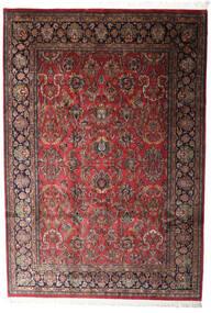 Kashan Indo Tapis 196X285 D'orient Fait Main Rouge Foncé/Gris Foncé (Laine, Inde)