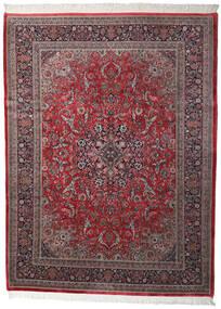 Kashan Indo Tapis 250X335 D'orient Fait Main Marron Foncé/Rouge Foncé Grand (Laine, Inde)