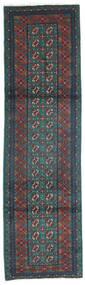 Afghan Tapis 80X300 D'orient Fait Main Tapis Couloir Gris Foncé/Turquoise Foncé (Laine, Afghanistan)