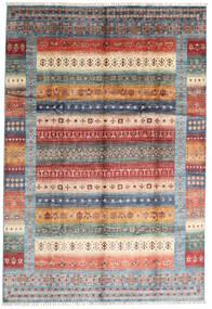 Shabargan Tapis 207X305 Moderne Fait Main Marron Foncé/Gris Clair (Laine, Afghanistan)