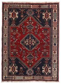 Ghashghaï Tapis 105X144 D'orient Fait Main Rouge Foncé/Marron (Laine, Perse/Iran)
