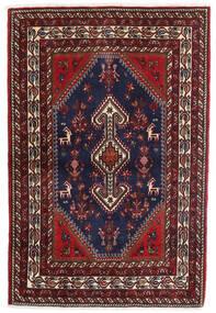 Ghashghaï Tapis 105X155 D'orient Fait Main Rouge Foncé/Bleu Foncé (Laine, Perse/Iran)