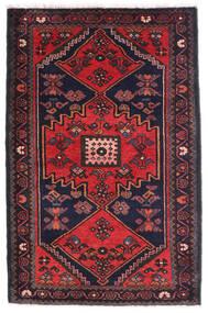 Hamadan Tapis 80X135 D'orient Fait Main Noir/Rouille/Rouge (Laine, Perse/Iran)