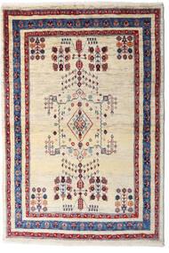 Loribaft Persan Tapis 98X145 Moderne Fait Main Beige/Violet Foncé (Laine, Perse/Iran)