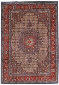 Moud Tapis 210X302 D'orient Fait Main Rouge Foncé/Marron Foncé (Laine/Soie, Perse/Iran)