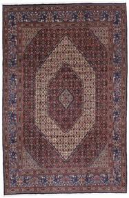 Moud Tapis 213X320 D'orient Fait Main Marron Foncé/Rouge Foncé (Laine/Soie, Perse/Iran)