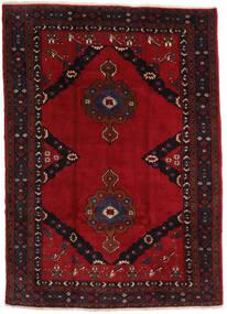 Mashad Tapis 207X290 D'orient Fait Main Noir/Rouge Foncé (Laine, Perse/Iran)