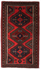 Hamadan Tapis 75X135 D'orient Fait Main Marron Foncé/Rouge Foncé (Laine, Perse/Iran)
