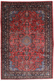 Hamadan Shahrbaf Tapis 217X315 D'orient Fait Main Rouge Foncé/Marron Foncé (Laine, Perse/Iran)