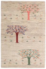 Loribaft Persan Tapis 100X149 Moderne Fait Main Gris Clair/Beige (Laine, Perse/Iran)
