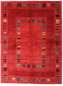 Loribaft Persan Tapis 165X225 Moderne Fait Main Rouille/Rouge/Rouge (Laine, Perse/Iran)