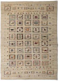 Loribaft Persan Tapis 150X209 Moderne Fait Main Gris Clair/Marron Clair (Laine, Perse/Iran)