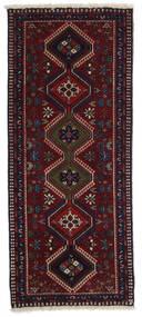 Yalameh Tapis 60X145 D'orient Fait Main Tapis Couloir Rouge Foncé (Laine, Perse/Iran)