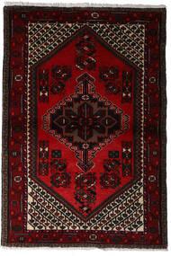Hamadan Tapis 97X145 D'orient Fait Main Rouge Foncé (Laine, Perse/Iran)