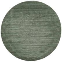 Handloom - Vert Forêt Tapis Ø 250 Moderne Rond Vert Foncé/Vert Clair Grand (Laine, Inde)