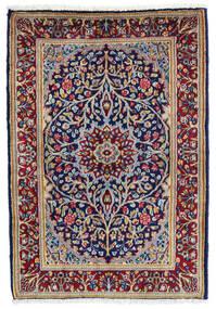 Kerman Tapis 60X90 D'orient Fait Main Violet Foncé/Rouge Foncé (Laine, Perse/Iran)