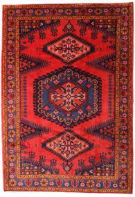 Wiss Tapis 215X310 D'orient Fait Main Violet Foncé/Rouge Foncé/Rouge (Laine, Perse/Iran)