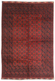 Afghan Tapis 197X284 D'orient Fait Main Rouge Foncé/Marron Foncé (Laine, Afghanistan)