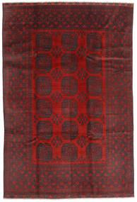Afghan Tapis 195X288 D'orient Fait Main Rouge Foncé/Noir (Laine, Afghanistan)