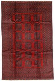 Afghan Tapis 192X293 D'orient Fait Main Rouge Foncé/Marron Foncé (Laine, Afghanistan)