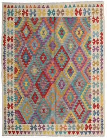 Kilim Afghan Old Style Tapis 152X198 D'orient Tissé À La Main Marron Clair/Gris Clair (Laine, Afghanistan)
