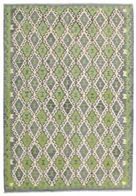 Kilim Afghan Old Style Tapis 168X246 D'orient Tissé À La Main Gris Clair/Vert Clair (Laine, Afghanistan)