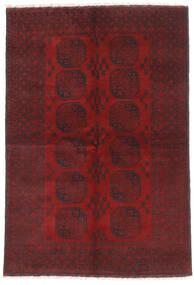 Afghan Tapis 160X232 D'orient Fait Main Rouge Foncé/Marron Foncé (Laine, Afghanistan)
