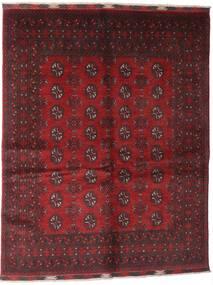 Afghan Tapis 150X192 D'orient Fait Main Rouge Foncé/Marron Foncé (Laine, Afghanistan)