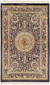 Ghom Soie Tapis 99X157 D'orient Fait Main Marron Foncé/Marron (Soie, Perse/Iran)