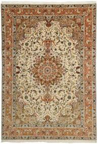Tabriz 50 Raj Tapis 253X358 D'orient Fait Main Marron/Marron Clair/Beige Foncé Grand (Laine/Soie, Perse/Iran)