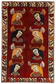 Ghashghaï Tapis 124X195 D'orient Fait Main Rouge Foncé (Laine, Perse/Iran)