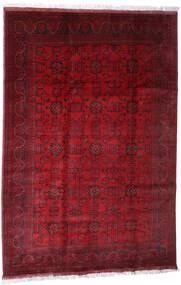 Afghan Khal Mohammadi Tapis 203X301 D'orient Fait Main Rouge Foncé/Rouge (Laine, Afghanistan)