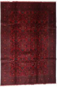 Afghan Khal Mohammadi Tapis 197X286 D'orient Fait Main Rouge Foncé/Marron Foncé (Laine, Afghanistan)