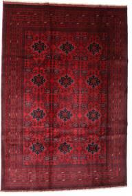 Afghan Khal Mohammadi Tapis 201X293 D'orient Fait Main Rouge Foncé/Marron Foncé (Laine, Afghanistan)