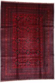 Afghan Khal Mohammadi Tapis 201X288 D'orient Fait Main Rouge Foncé (Laine, Afghanistan)