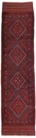 Kilim Golbarjasta Tapis 66X255 D'orient Tissé À La Main Tapis Couloir Rouge Foncé/Violet Foncé (Laine, Afghanistan)