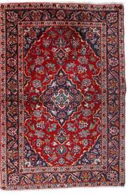 Kashan Tapis 100X147 D'orient Fait Main Rouge Foncé/Violet Foncé (Laine, Perse/Iran)