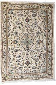 Kashan Tapis 103X144 D'orient Fait Main Gris Clair/Beige (Laine, Perse/Iran)