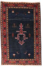 Gabbeh Kashkooli Tapis 104X160 Moderne Fait Main Noir/Rouge Foncé (Laine, Perse/Iran)