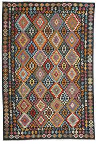 Kilim Afghan Old Style Tapis 202X307 D'orient Tissé À La Main Gris Foncé/Noir (Laine, Afghanistan)