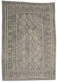 Kilim Afghan Old Style Tapis 206X299 D'orient Tissé À La Main Gris Clair/Gris Foncé (Laine, Afghanistan)