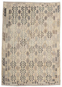 Kilim Afghan Old Style Tapis 205X293 D'orient Tissé À La Main Gris Clair/Beige (Laine, Afghanistan)