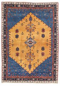 Gabbeh Kashkooli Tapis 124X174 Moderne Fait Main Marron Clair/Bleu Foncé (Laine, Perse/Iran)