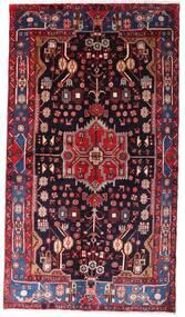 Nahavand Tapis 142X257 D'orient Fait Main Rouge Foncé/Noir (Laine, Perse/Iran)