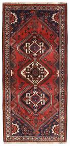 Ghashghaï Tapis 84X180 D'orient Fait Main Tapis Couloir Rouge Foncé/Marron Foncé (Laine, Perse/Iran)