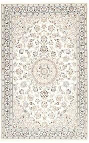 Naïn 9La Tapis 116X181 D'orient Fait Main Beige/Gris Clair/Blanc/Crème (Laine/Soie, Perse/Iran)
