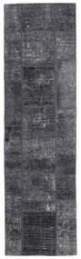Patchwork - Persien/Iran Tapis 71X251 Moderne Fait Main Tapis Couloir Gris Foncé/Violet Clair (Laine, Perse/Iran)